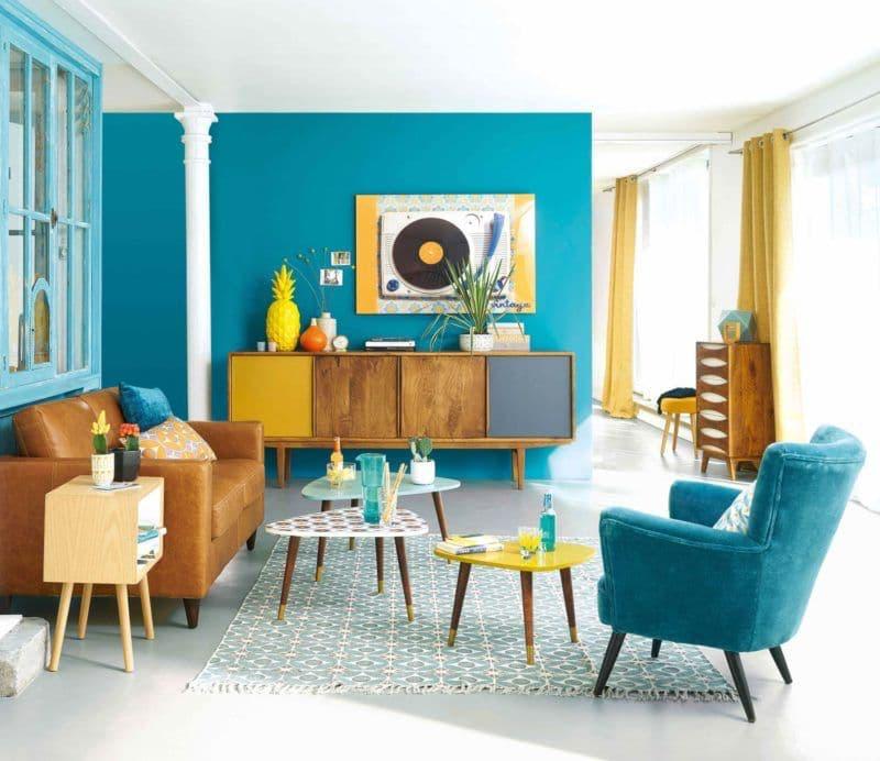 Merisier couleur bleu turquoise
