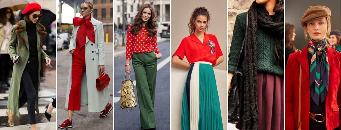 Couleur vêtement vert et rouge